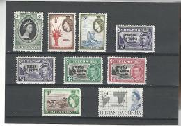 54192 ) Collection Tristan Da Cunha Queen  Overprint On St Helena - Tristan Da Cunha