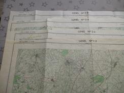 LUNEL (34)  LOT De CARTES  IGN  1/25000 - 1972-74 - Détails Voir Les Scans - Topographical Maps