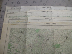 LUNEL (34)  LOT De 4 CARTES  IGN  1/25000 - 1972-74 - Détails Voir Les Scans - Topographical Maps