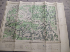 LE BLEYMARD (48) CARTE  IGN  1/50000 TYPE 1963 - Détails Voir Les Scans - Topographical Maps