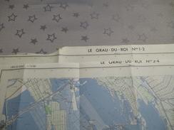 LE GRAU DU ROI (30) LOT De 2 CARTES  IGN  1/25000  - Détails Voir Les Scans - Topographical Maps