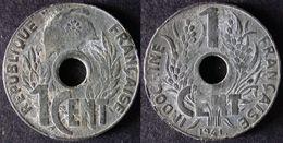 INDOCHINE  1 Cent LOTUS 1941   INDOCHINA    ENVOI  GRATUIT - Colonias