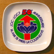 CENDRIER J.O.C-J.O.C.F 50e ANNIVERSAIRE14 MAI 78 PARIS LA COURNEUVE / MADE IN FRANCE 722 PLASTOREX 6 74 RUMILLY - Ashtrays