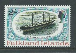Falkland Islands 1980 Ship HMS Great Britain 2 Shilling Value MNH - Falkland Islands