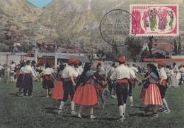 Carte  Maximum  1er  Jour   ANDORRE    Danse  :  La   SARDANE   1963 - Maximumkarten (MC)