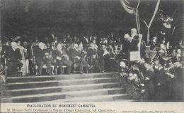 33)   BORDEAUX - Inauguration Du Monument GAMBETTA - M. Mounet Sully Déclamant La Poésie D' Omer Chevalier - A Gambetta - Bordeaux