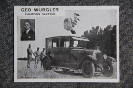 GEO WURGLER : Champion Sauteur. - Postcards