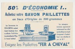 Buvard 20.9 X 13.2 Les Savonnerie Du FER A CHEVAL  Savon Paillettes  (Savonneries J.-B. Paul Marseille) - Perfume & Beauty