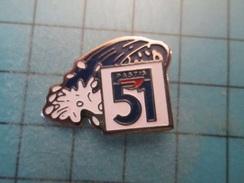 Pin510e Pin's Pins : BEAU ET RARE :  BOISSON APERITIF PASTIS 51 VAGUE DE FRAICHEUR  , Marquage Au Dos : - --- - - Beverages
