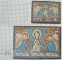 P7 Paintings - Cyprus 1970 Yv. 333-336 MNH Cplete Set 4v. - Christmas Stamps - Cyprus (Republic)