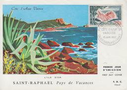 Carte  Maximum  1er   Jour     COTE  D' AZUR  VAROISE      SAINT  RAPHAËL   1963 - Cartoline Maximum