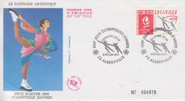 Enveloppe  FDC  1er  Jour   JEUX  OLYMPIQUES  D'  HIVER    ALBERTVILLE    1992 - Invierno 1992: Albertville