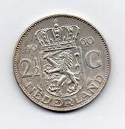 Paesi Bassi (Olanda) - 1960 - 2 E 1/2  Gulden - Argento - (FDC7359) - [ 8] Monedas En Oro Y Plata