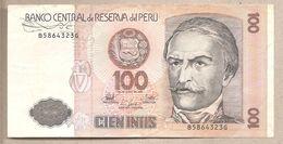Perù - Banconota Circolata Da 100 Intis P-133 - 1987 - Peru