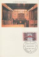 Carte   Maximum   1er  Jour   ANDORRE   Institutions  Andorranes   1977 - Maximumkarten (MC)