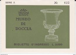 BIGLIETTO INGRESSO MUSEO DI DOCCIA A SESTO FIORENTINO RICHARD GINORI - Toegangskaarten