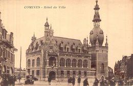 C P A 59] Nord >  COMINES L HOTEL DE VILLE CARTE ANIMEE - Lille