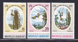 NOUVELLES-HEBRIDES N°  286 à 288 ** MNH Neufs Sans Charnière,  TB (D4130) Saut Du Gaul - Légende Française