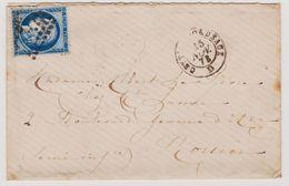 Cérès N° 60 A N° 18 G3 Ex Zéro RRR Bordeaux Sur Lettre 2 Scans - 1871-1875 Cérès