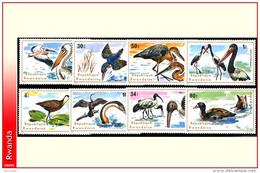 Rwanda 0649/58**  Oiseaux Aquatiques  MNH - Rwanda