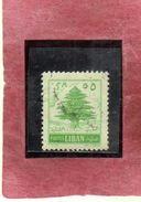 LIBANO LEBANON LIBAN 1955 CEDAR CEDRO 5p USATO USED OBLITERE' - Lebanon