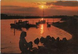 Italia  Tramonto  Sunset Soleil Couchant. Barche - Cartoline