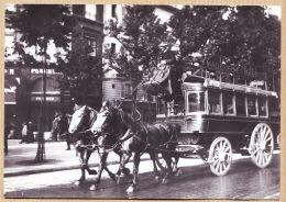 X75672 PARIS 1900 Taxi Hippomobile Ligne Le MADELEINE -BASTILLE à Son Départ Photo DESOYE REPRODUCTION LANCHERE N°3 - Distrito: 08