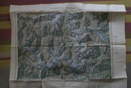 Carte IGN 1/50 000 ème Publiée 1960 - St CHRISTOPHE En OISANS N° XXXIV-36 ( Dont Villar-Loubière, Béassac, La Bérarde..) - Topographical Maps
