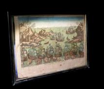 [MARINE BATEAUX] Vue Perspective D'un Combat Naval. 1770. - Engravings