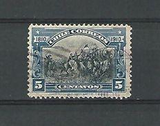 1910  BATALLA DE MAIPO 5 CENTAVOS OBLIT DOS CHARNIERE - Chile