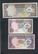 Kuwait 20 Dinars 16b Fds + 1/4 Dinar 11d Q.fds + 1/2 Dinar 12d Spl LOTTO 325 - Kuwait