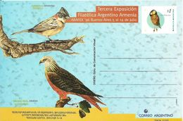 Ab ARGENTINA 1996. Postal Stationery Card ARAFEX ` 96  Buenos Aires - Birds