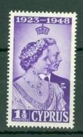 Cyprus: 1948   Royal Silver Wedding   SG166   1½pi      MH - Zypern (...-1960)
