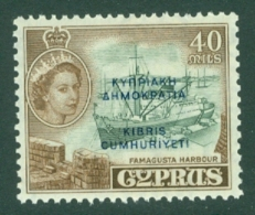 Cyprus: 1960/61   QE II - Pictorial 'Cyprus Republic' OVPT   SG197   40m    MH - Cyprus (...-1960)