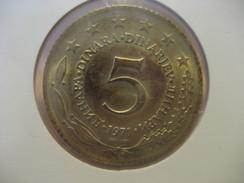 5 Dinar 1971 YUGOSLAVIA Yougoslavie Coin - Yugoslavia