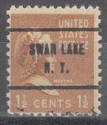 USA Precancel Vorausentwertung Preo, Locals New York, Swan Lake 713 - Etats-Unis