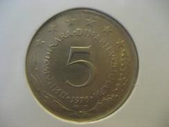 5 Dinar 1976 YUGOSLAVIA Yougoslavie Coin - Yugoslavia