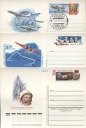 Lot De 12 Entiers Postaux URSS Type Carte / Thèmes Espace,Cosmos,Aviation,Cosmonautes - 1923-1991 URSS
