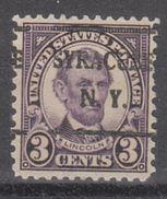 USA Precancel Vorausentwertung Preo, Locals New York, Syracuse 635-L-4 E - Vereinigte Staaten