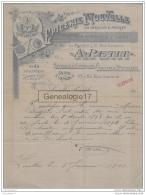 92 1611 LEVALLOIS PERRET SEINE 189. Epicerie A. PETIT Rue Du Marche Chocolaterie Rue Lannois USINE A VAPEUR - France
