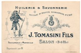 Bouches Du Rhône - SALON - Huilerie & Savonnerie J. Tomasini Fils - Succursale à Marseille - Publicité - Salon De Provence