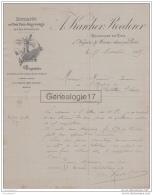 94 815 NOGENT SUR MARNE SEINE 1889 Vins Moulin A Vent Romaneche Thorins A. KERCHER - ROEDERER De CHENAS FLEURYE 69 - Francia