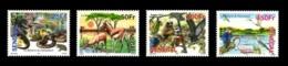 SENEGAL 2013 FAUNA GUEUMBEUL RESERVE REPTILES FLAMANT SERPENT SNAKES APES MONKEYS BIRDS OISEAUX EAGLES - RARE - MNH ** - Senegal (1960-...)