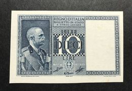10 LIRE IMPERO 1939 XVIII Q.FDS LOTTO 327 - [ 1] …-1946 : Regno