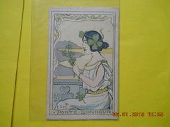 Illustrateur G.Bigot ,porte-Bonheur Art Nouveau ,style Mucha - Bigot