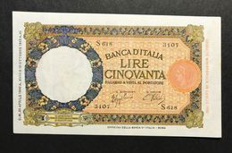 50 LIRE LUPETTA Roma FASCIO 29 04 1940  Pressato Ma Ottimo Aspetto Spl   LOTTO 331 - [ 1] …-1946 : Kingdom