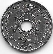 Belguim 5 Centimes 1932 Ster Op 2 Benen  Km 431  French  Xf - 1909-1934: Albert I