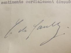 AUTOGRAPHE GENERAL DE GAULLE ORIGINAL 1957 A OFFICIER MARINE - Autogramme & Autographen