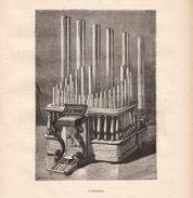 1875 - Gravure Sur Bois - Le Pyrophone (Orgue) - FRANCO DE PORT - Estampes & Gravures
