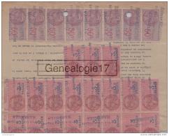 13 3248 MARSEILLE 1916 - 3 Frs - 50 C - 3F 50C  QUITTANCE DE LOYER De Me PESANTE Bd Saint Clement ˆ SAINT BARTHELEMY - Fiscales